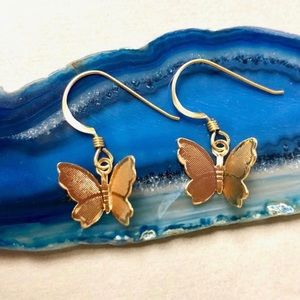 NEW Butterfly gold earrings